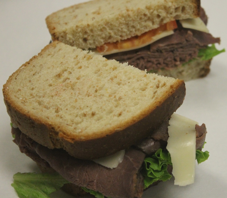 Roast Beef with Swiss on Wheat Bread